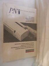 MANUALE PER L UTENTE PN 48 NOTEBOOK PRINTER Citizen 1991 scienza computer libro