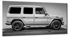 Leinwand Bild Mercedes Benz G 65 AMG V1 Schwarzweiß Wandbild SUV 4x4 Klassik