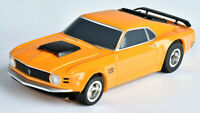 IT'S BACK! Tomy AFX Clear Mega G+ Orange Ford Mustang Boss 429 HO Slot Car 21050
