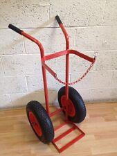 "KB08 Single Oxygen Acetylene gas cylinder trolley16"" Pneumatic wheels"