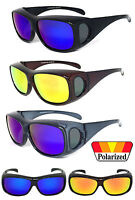 1 or 2 Pair(s) Polarized Mirror Lens FIT OVER Sunglasses Cover Rx Glasses UV 400