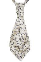 2 x Men's / Boy's Scroll Special Occasion Wedding Groom Page Boy Pre-Tied Cravat