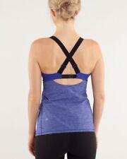 Lululemon Run Catch Me Tank Top Tanka Stripe Pigment Blue 2 Yoga Shelf Bra
