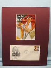 Rockwell - Boy With Melting Ice Cream Cones & First Day Cover of Ice Cream stamp