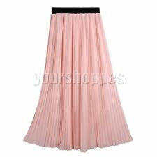 Chiffon Long Solid Maxi Skirts for Women | eBay