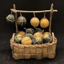 Basket Melons Art Presepiale Nativity Neapolitan Scene Tavern 4 11/16x3