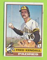 Autographed 1976 Topps Card - Fred Kendall (#639)  San Diego Padres