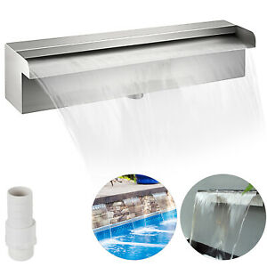 VEVOR Stainless Steel Waterfall Cascade Koi Fish Pond Water Blade Feature 300MM