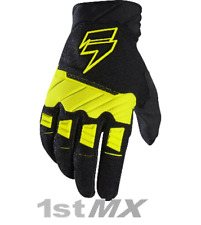 Shift WHIT3 Label PRO Motocross Off Road Race Gloves Black Yellow Adults XLarge