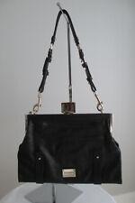 ALEXIS HUDSON Designer PURSE Black Leather SHOULDER TOTE CLUTCH Convertible Bag