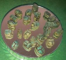 25 Mini Scarabs Good Luck Charm antique look