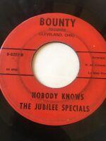 "RARE GOSPEL SOUL 45/ JUBILEE SPECIALS ""NOBODY KNOWS""  (BODDIE)  BOUNTY  HEAR"