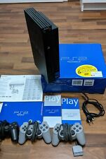 Sony PlayStation 2 Schwarz PS2 PAL SCPH-30004 3 Controller mit OVP