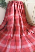 NEXT RED WHITE CHARCOAL BLACKOUT CHECKED COTTON PAIR CURTAINS,53WX54D,GINGHAM