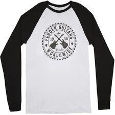 Fender Seal Men's Raglan T-Shirt 3/4 Longsleeve Shirt White/Black Large (L)