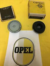 NEU + ORIGINAL OPEL Kadett B 1.Serie Hupenknopf SCHWARZ mit Emblem Lenkrad NOS