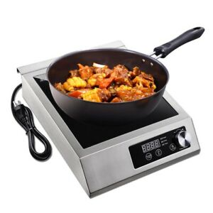 3500W Commercial Induction Cooktop Electric Cooker Burner Stove Stainless Steel