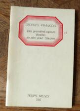 GEORGES FRANCOIS DES PREMIERES VAPEURS VOODOO AU ZERO POUR... TEMPS MELES  146
