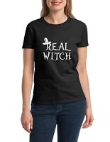 Ladies Real Witch Shirt Halloween Fall T-Shirt Hocus Pocus Tee Funny Gift