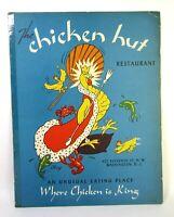 """Vtg. Original 1940 """"Chicken Hut"""" Restaurant Menu Washington D.C. 10½ X 13½ In."""