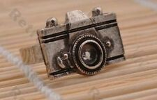 2pcs METAL CAMERA RINGS kitsch ring VINTAGE BRASS/ANTIQUE SILVER TONE adjustable