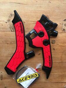 HONDA CRF 250 L M 2013-2021 ACERBIS RED / BLACK FRAME GUARDS