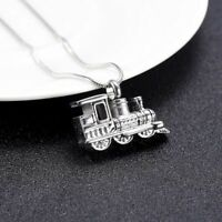Urn Steam Train Necklace Cremation Jewellery Ashes Pendant Locket Keepsake