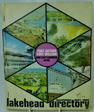 Vintage 1969 Lakehead Telephone Directory Fort William Port Arthur + Other Areas
