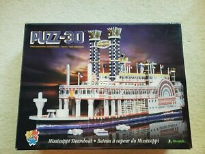 Mississippi Steamboat by Wrebbit - 718 Piece 3D Puzzle read description