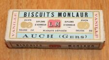 ancienne boite en biscuit en carton l.m monlaur Auch ( Gers )