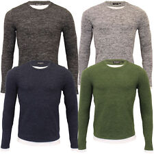 Mens Long Sleeves Top Brave Soul Insert T Shirt PROGBA Crew Neck Lightweight New