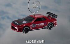 Red Nissan Skyline GT-R (R32) Gran Turismo Christmas Ornament Adorno GTR 1/64