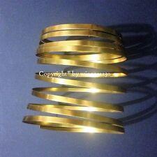 5mm Wide GOLD Flat Wire Aluminium JEWELLERY Craft DIY Florist Decor 3m Length
