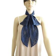 Navy Blue Lace Scarf. Bow Tie Scarf. Neck Scarf. Soft Tiny Scarf. Handmade Scarf