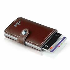 VALLET® Original Kreditkartenetui Leder 5-8 Karten RFID + NFC Schutz Halter neu