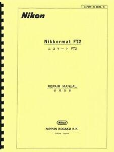 Nikon Nikkormat FT2 Camera Repair Manual Reprint (English & Japanese)