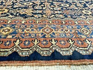 Auth: Antique Kurdish  Rug.  N W  P E R S I A N  Beauty  Blue 4x6 Collectible NR
