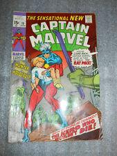 MARVEL COMICS CAPTAIN MARVEL #20 JUNE 1970 FINE CONDITION