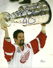 Brendan Shanahan Hand Signed 8x10 Stanley Cup Photo JSA Detroit Red Wings