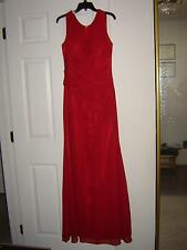 BRIDESMAID PROM FORMAL GOWN / DRESS CHIFFON FABRIC BURGUNDY COLOR - BRAND NEW