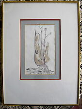 """Original Ink Wash Painting """"Sturdy Roots"""", Amar Nath Sehgal, Signed, Indian"""