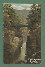 1907 E. LONGSTAFFE POSTCARD THE HERMITAGE BRIDGE - DUNKELD