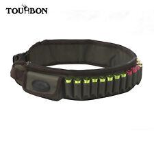 Soporte del cartucho de escopeta Tourbon munición balas Cinturón Bandolera 2 bolsillos laterales