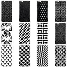 Negro Y Blanco Patrón de colección rígido Funda cubierta para teléfonos móviles APPLE IPHONE