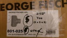 "New listing (Box of 3) 2-1/2"" Tee Gf Pvc Sch 80 P/N 801-025"