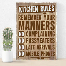 Retro Kitchen Signs And Plaques Shabby Chic Family Friendship Wall Sign Mum Gift