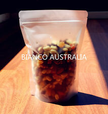 100x 70G(200ML) PLASTIC STAND UP POUCH BAG, FROSTED, WITH ZIP LOCK