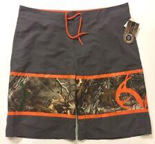 NWT NEW Realtree Xtra Camo Hunter Blaze Orange Board Short SwimSuit Mens XXL
