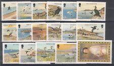 Isla De Man 1983/5 aves marinas y retrato de la Reina Juego de 17 u/Menta