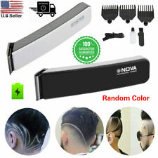 NOVA Rechargeable Men Electric Hair Clipper Shaver Beard Razor Trimmer Kit US